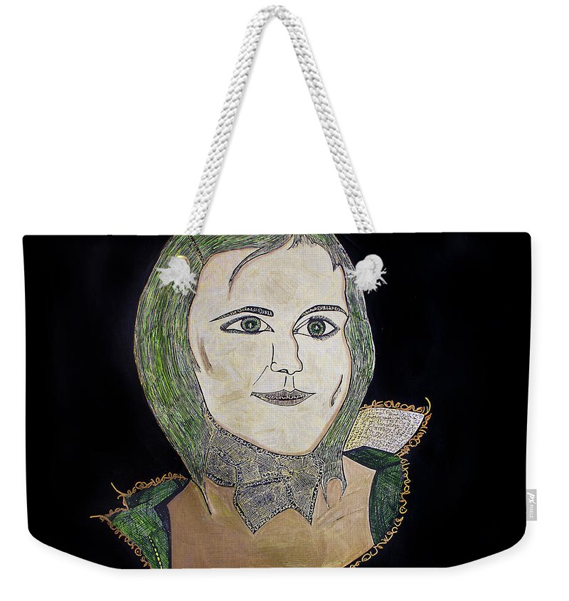 Portrait Weekender Tote Bag featuring the painting Katka by Alex Art and Photo