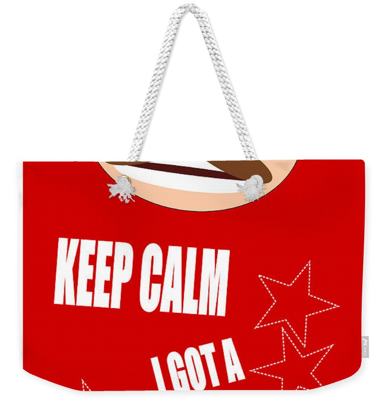 Keep Calm I Got A Plan Weekender Tote Bag featuring the digital art Keep Calm I Got A Plan by R Muirhead Art
