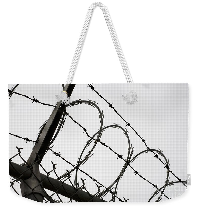 Adversity Weekender Tote Bag featuring the photograph Keep Out by Diane Macdonald