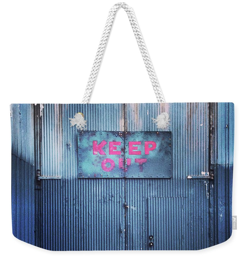 Tranquility Weekender Tote Bag featuring the photograph Keep Out by Hal Bergman Photography
