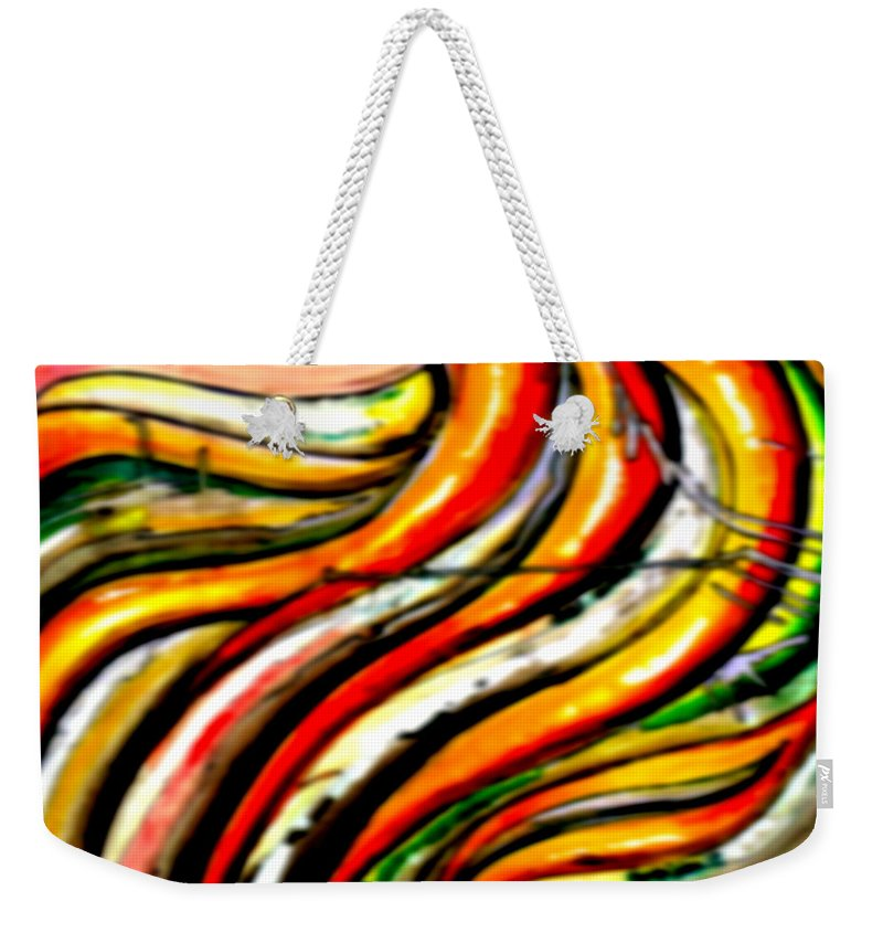Acrylic On Canvas Weekender Tote Bag featuring the painting Keep Smiling - Blur by Marcello Cicchini