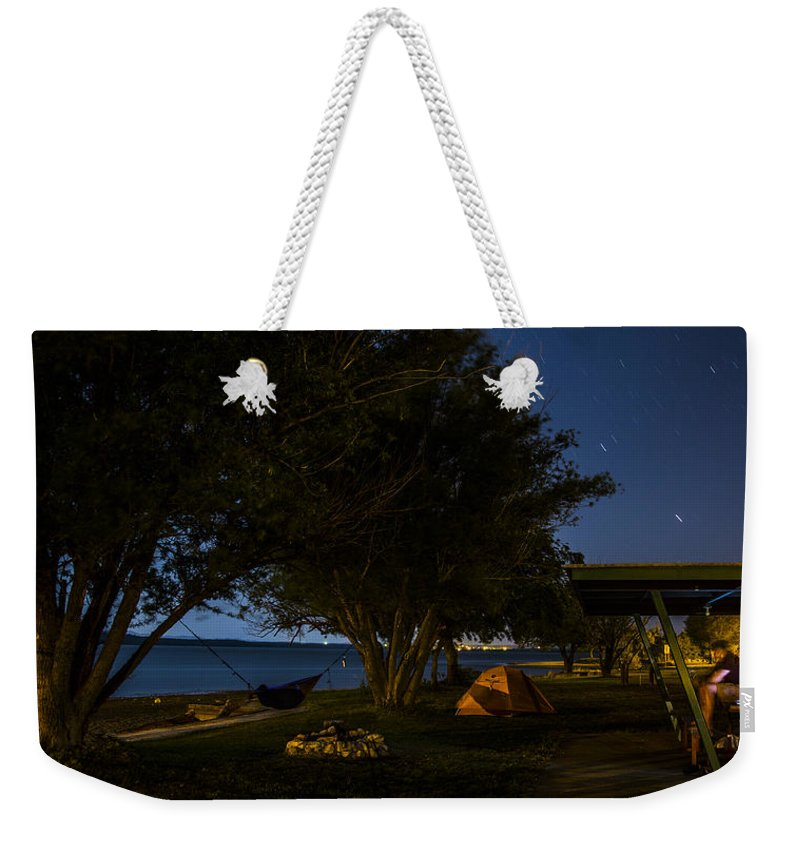 Lake Lawtonka Weekender Tote Bag featuring the photograph Keeping Watch by Angus Hooper Iii