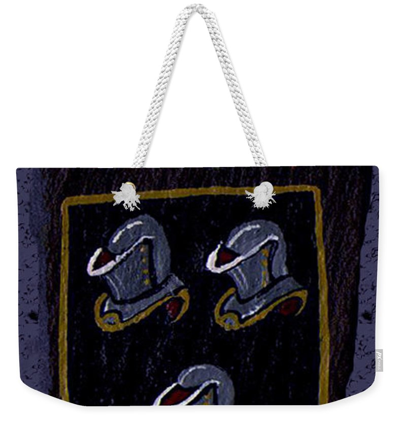 Family Shield Weekender Tote Bag featuring the painting Kennedy Crest by Barbara McDevitt