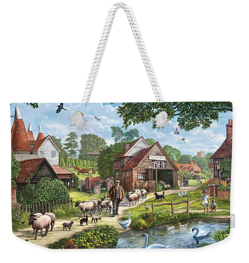 Steve Crisp Weekender Tote Bag featuring the photograph Kentish Farmer by MGL Meiklejohn Graphics Licensing