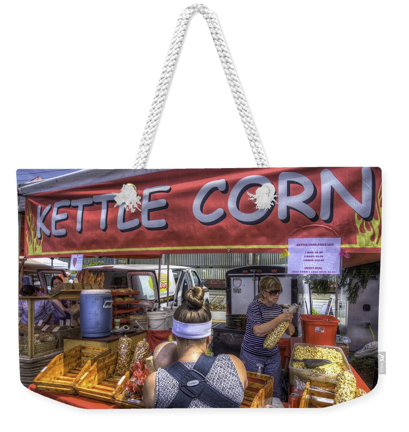 Kettle Corn Weekender Tote Bag featuring the photograph Kettle Corn by Spencer McDonald