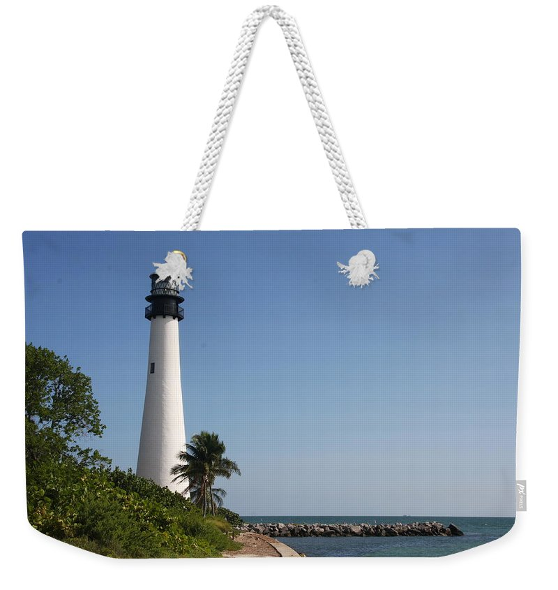 Ligthouse Weekender Tote Bag featuring the photograph Key Biscayne Lighthouse by Christiane Schulze Art And Photography
