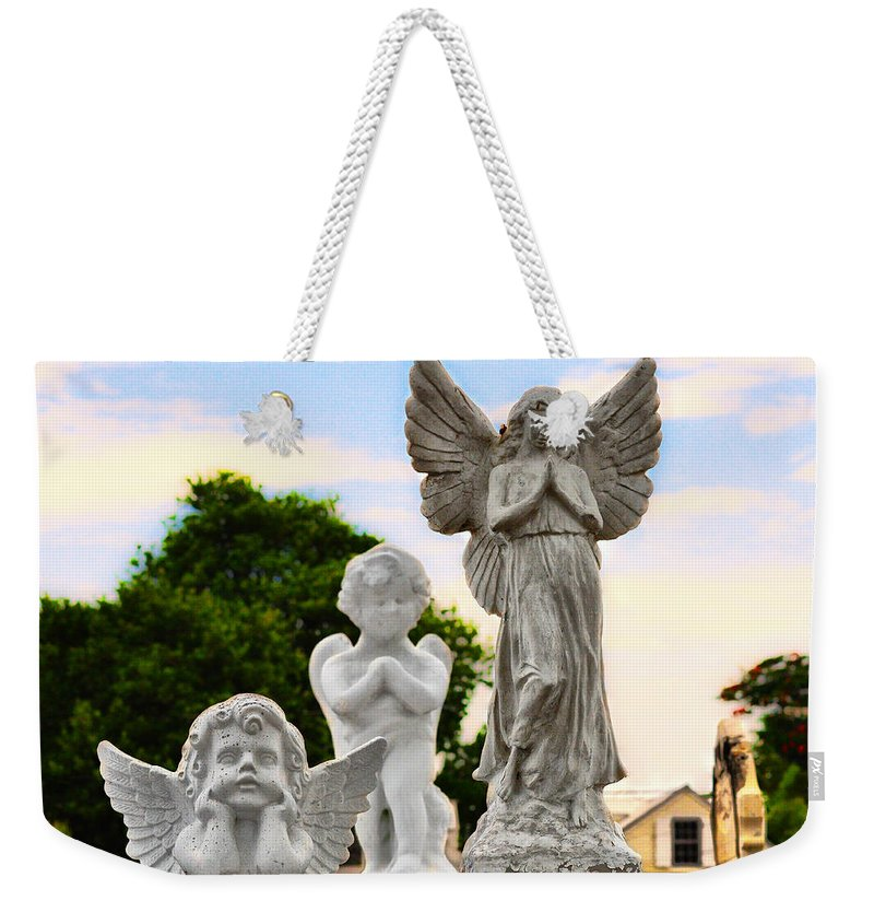 Key Weekender Tote Bag featuring the photograph Key West Angels by Bill Cannon