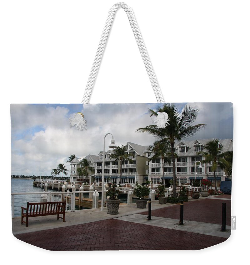 Key West Weekender Tote Bag featuring the photograph Key West Bayfront by Christiane Schulze Art And Photography