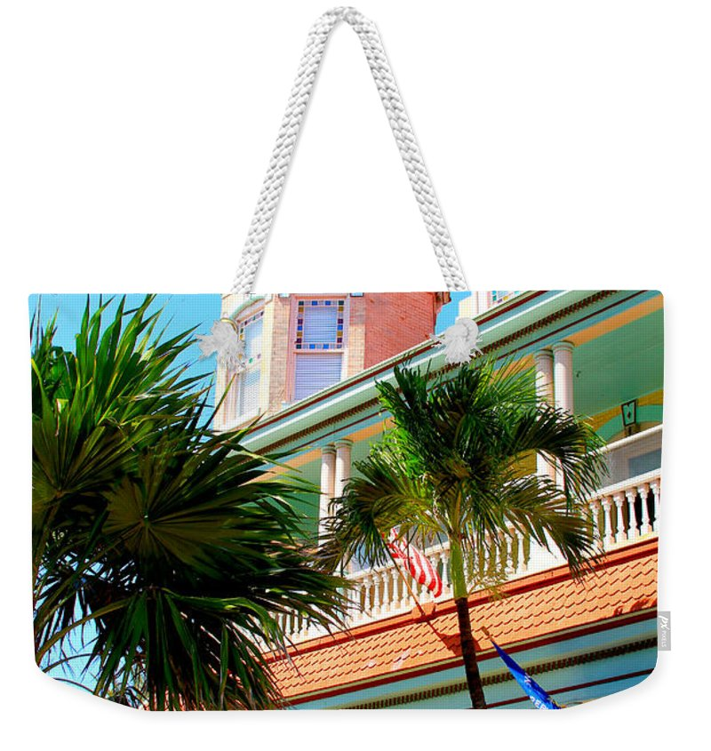 Key West Weekender Tote Bag featuring the photograph Key West by Carey Chen