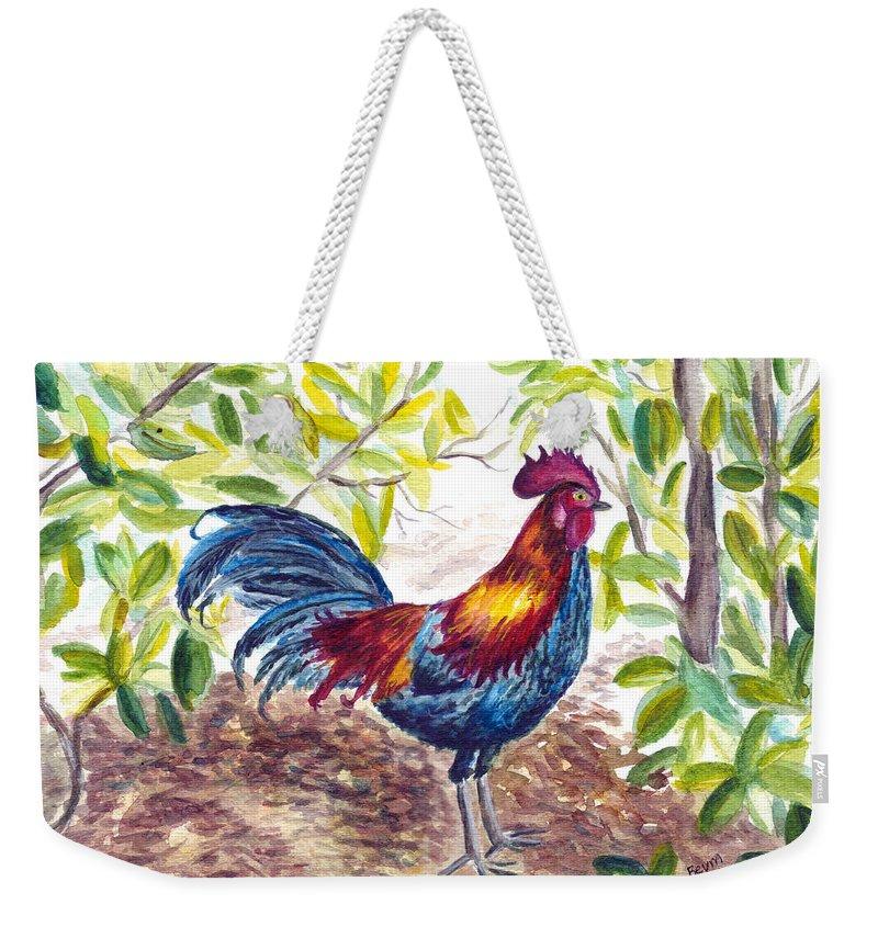 Key West Weekender Tote Bag featuring the painting Key West Proud by Clara Sue Beym