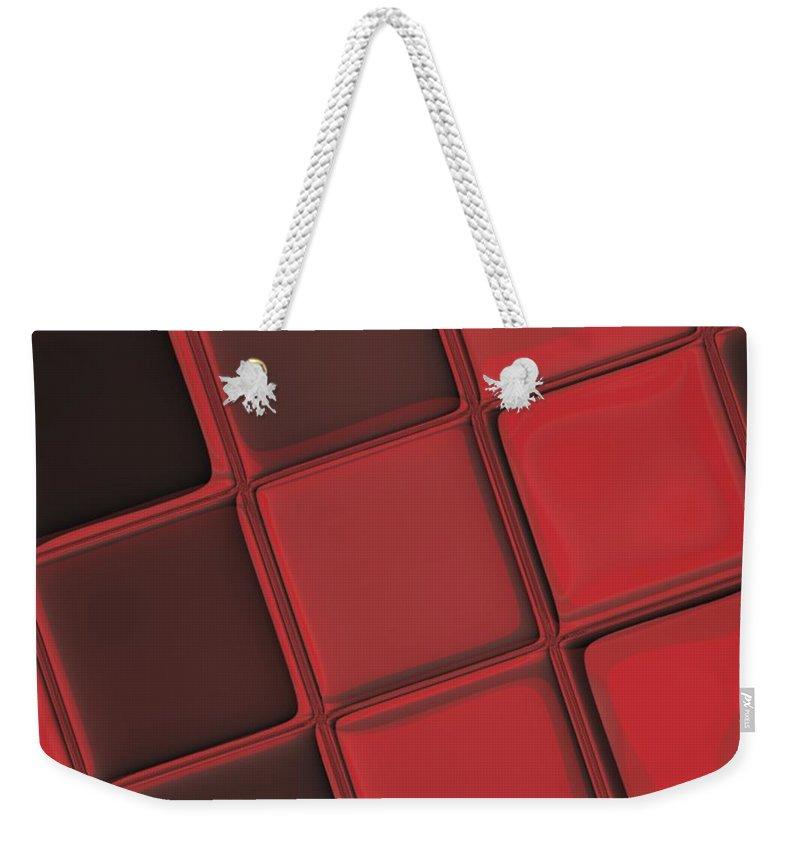 Keyboard Weekender Tote Bag featuring the digital art Keyboard Exposure by Pharris Art
