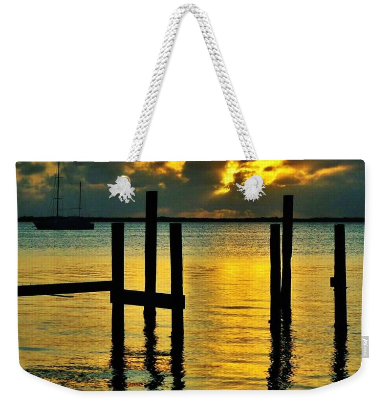 Florida Weekender Tote Bag featuring the photograph Keys Sunset by Benjamin Yeager