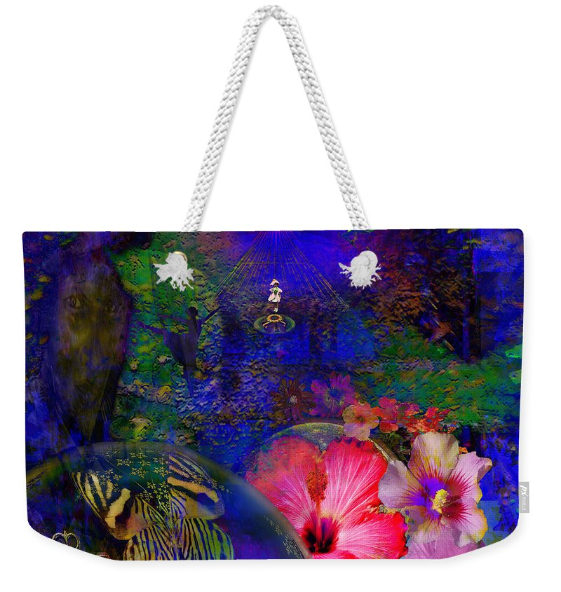 Metaphysical Weekender Tote Bag featuring the digital art Solar Paradise by Joseph Mosley