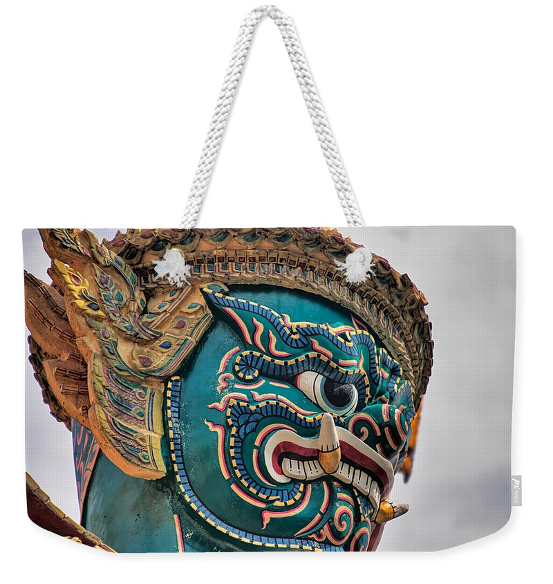 3scape Weekender Tote Bag featuring the photograph Khmer Guard by Adam Romanowicz