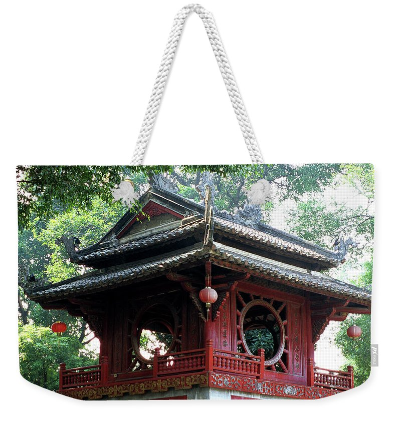 Vietnam Weekender Tote Bag featuring the photograph Khue Van Cac Gate by Rick Piper Photography