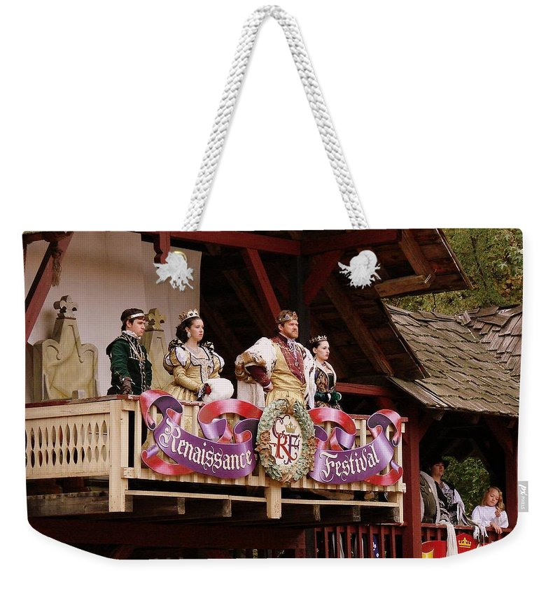 Royalty Weekender Tote Bag featuring the photograph King And Company by Rodney Lee Williams