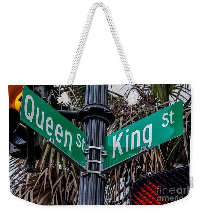 Charleston Weekender Tote Bag featuring the photograph King And Queen Street by Jerry Fornarotto