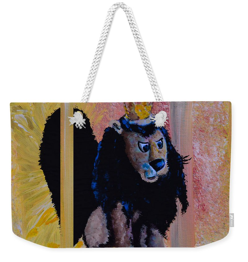 Rudolph The Red-nosed Reindeer Weekender Tote Bag featuring the painting King Moonracer by Alys Caviness-Gober