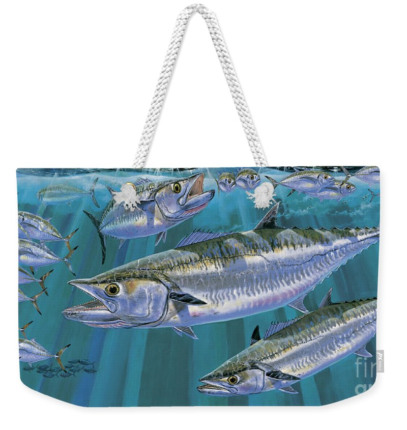 Kingfish Weekender Tote Bag featuring the painting King Of Kings Off0090 by Carey Chen