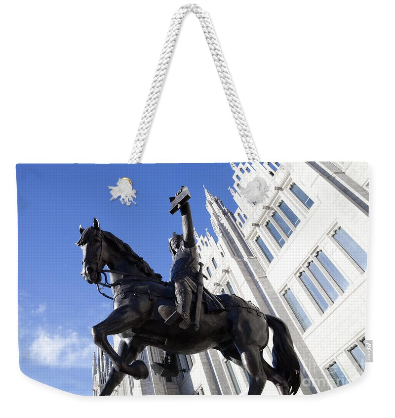 Architecture Weekender Tote Bag featuring the photograph King Robert The Bruce by Diane Macdonald