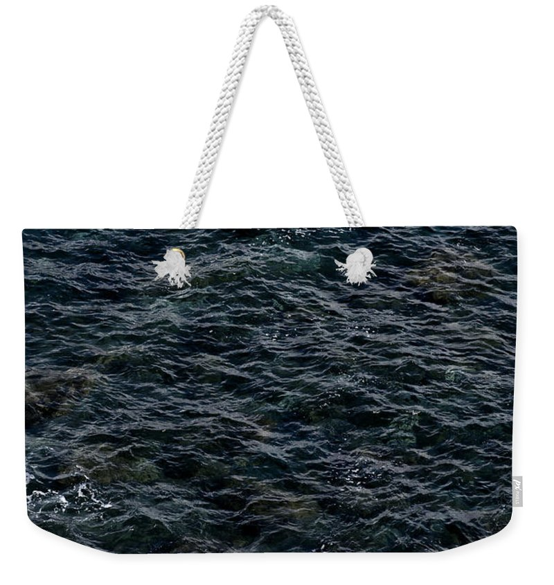 Ancient Weekender Tote Bag featuring the photograph Seagulls At Cliffs Ready To Fish In Mediterranean Sea - Kings Of The World by Pedro Cardona Llambias