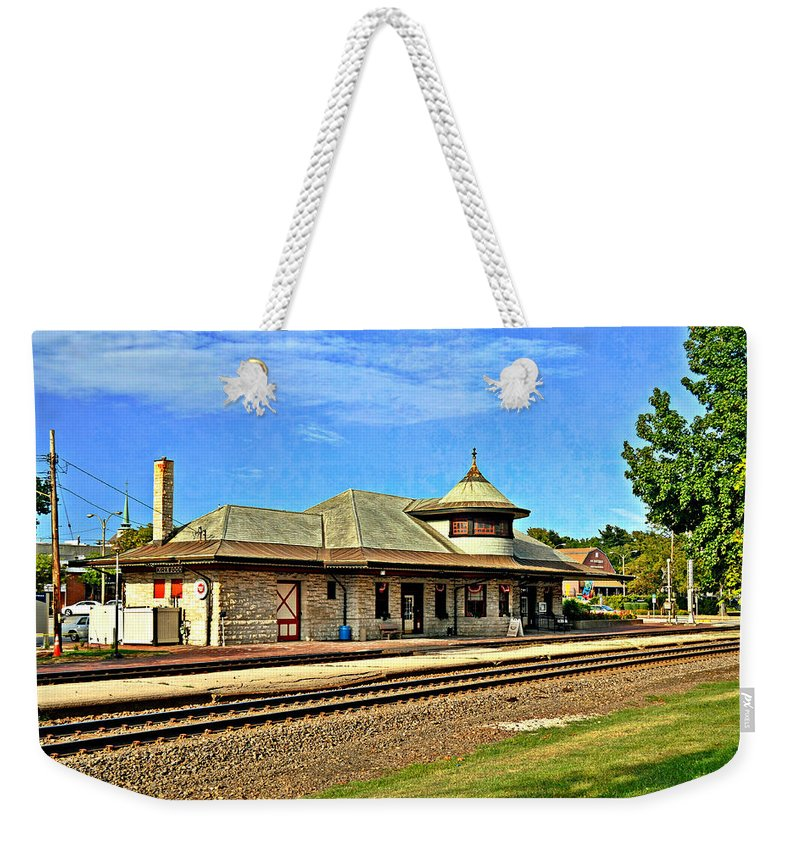 Train Weekender Tote Bag featuring the photograph Kirkwood Station by Marty Koch