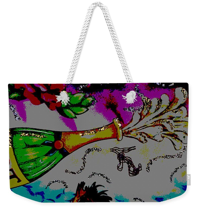 Digital Art Weekender Tote Bag featuring the photograph Kiss Me Hot Stuf by Marian Bell