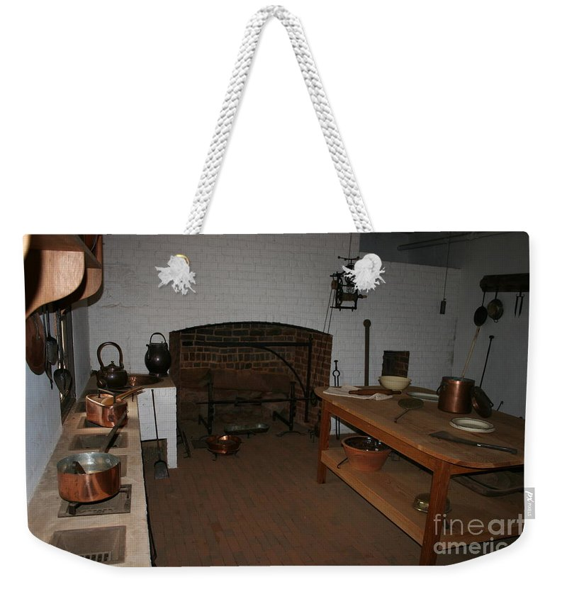 Kitchen Weekender Tote Bag featuring the photograph Kitchen At Monticello by Christiane Schulze Art And Photography