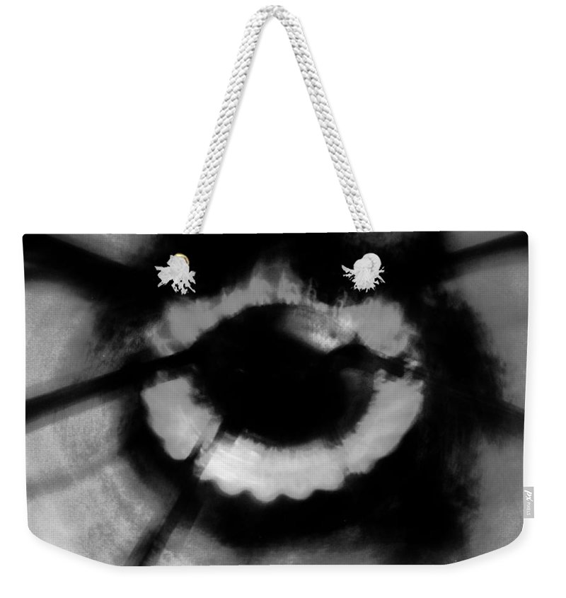 Black Weekender Tote Bag featuring the photograph Kitchens Have Eyes by Jessica Shelton