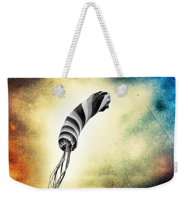 Black Kite Weekender Tote Bags