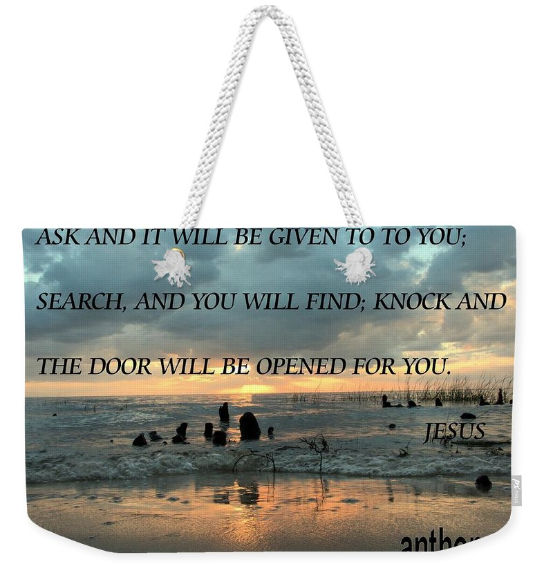 Weekender Tote Bag featuring the photograph Knock by Anthony Walker Sr
