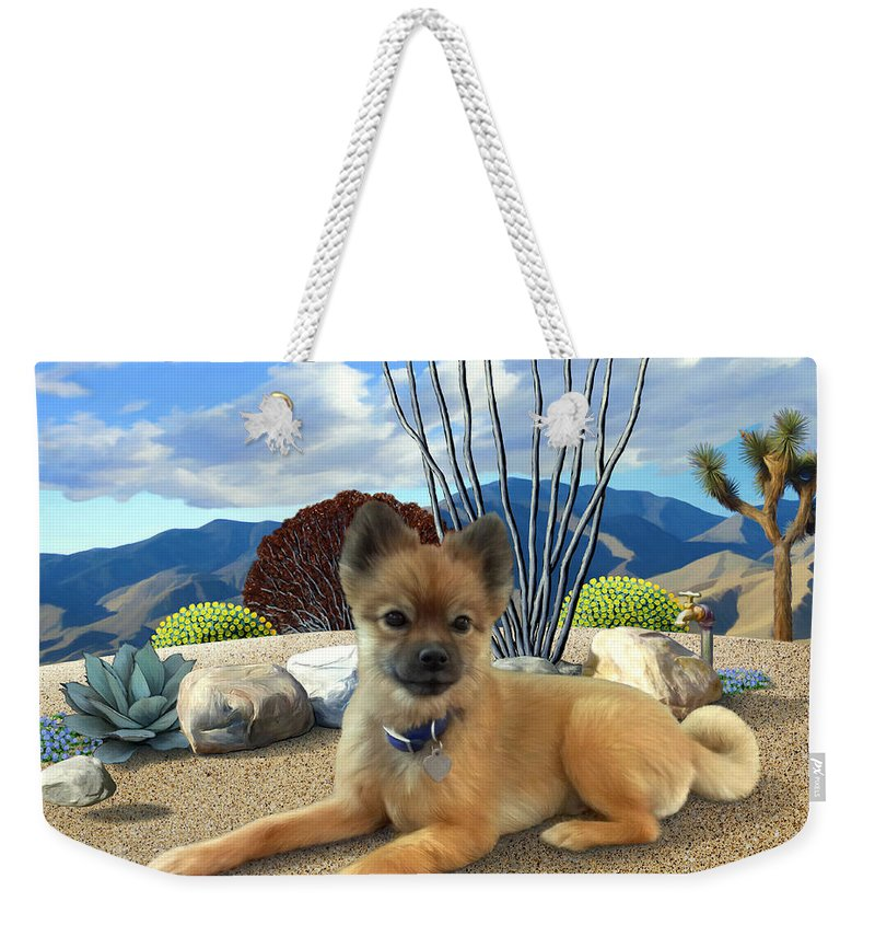 Dog Weekender Tote Bag featuring the painting Kodi by Snake Jagger