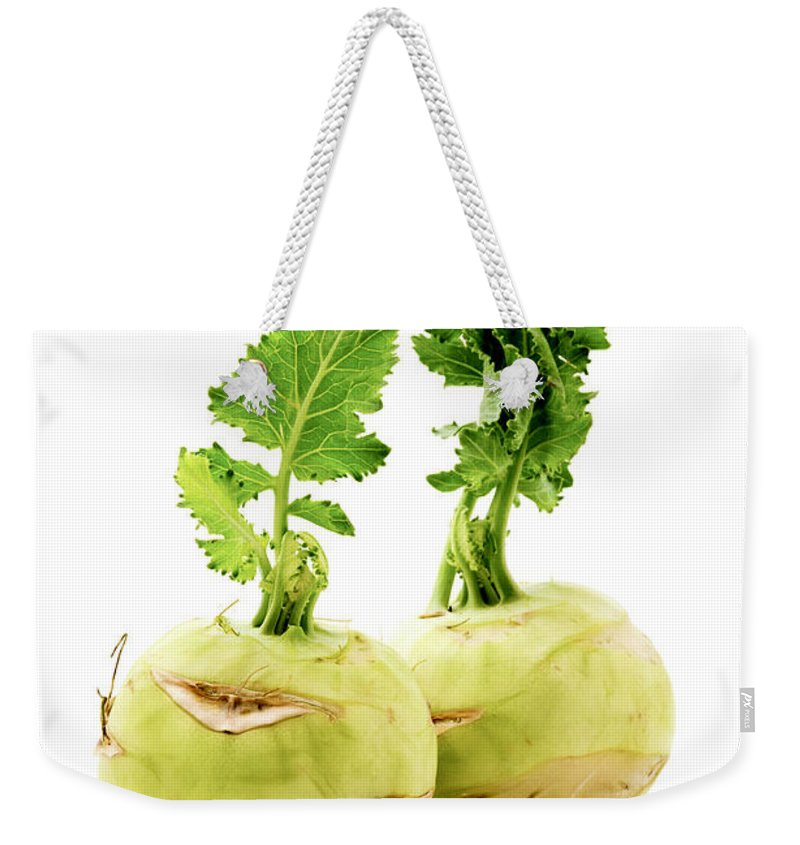 White Background Weekender Tote Bag featuring the photograph Kohlrabi by Fabrizio Troiani
