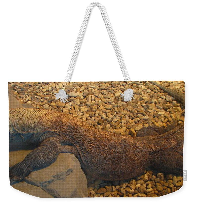 Art For The Wall...patzer Photography Weekender Tote Bag featuring the photograph Komodo by Greg Patzer
