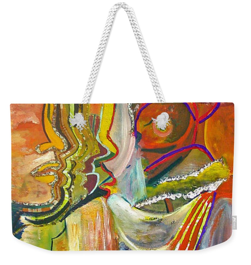 Impressionism Weekender Tote Bag featuring the painting Koulikoro Woman by Peggy Blood