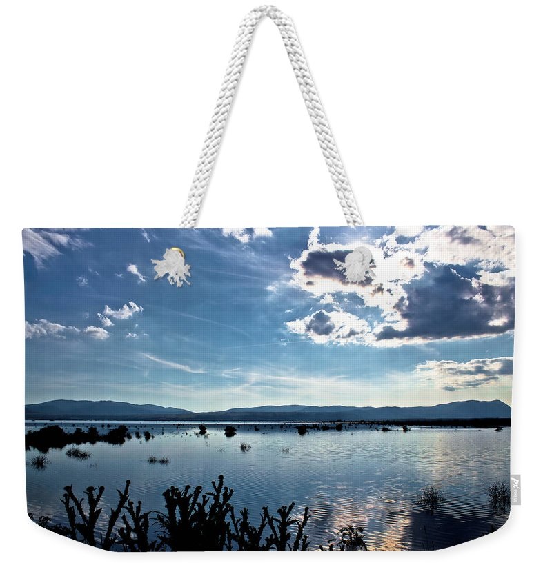 Landscape Weekender Tote Bag featuring the photograph Krbava Field Of Lika Blue Lake by Brch Photography