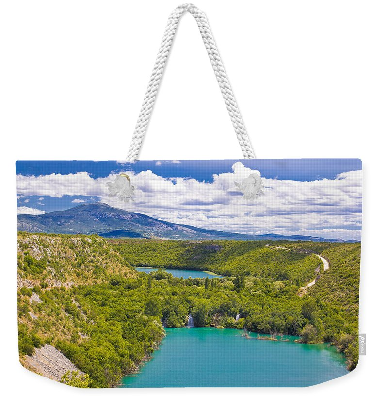 Krka Weekender Tote Bag featuring the photograph Krka River National Park Canyon by Brch Photography