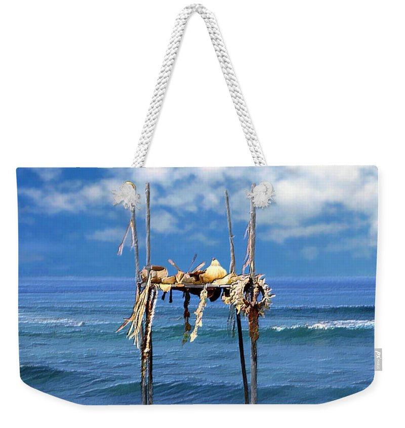 Hawaii Weekender Tote Bag featuring the photograph Ku Emanu Heiau Kona by Kurt Van Wagner