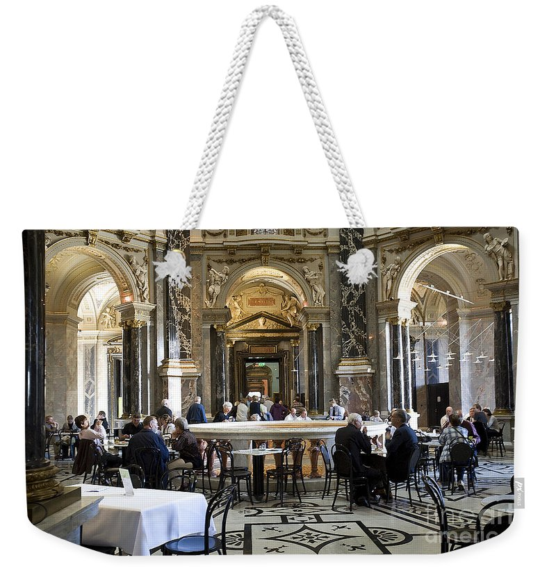 Kunsthistorische Museum Weekender Tote Bag featuring the photograph At The Kunsthistorische Museum Cafe II by Madeline Ellis