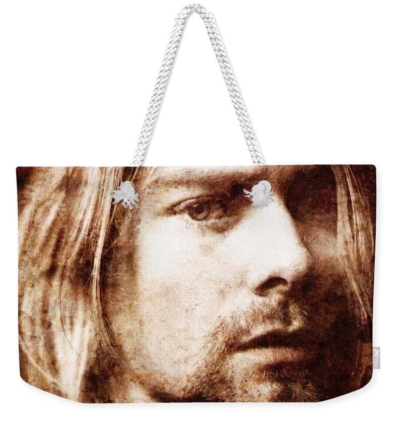 Cobain Weekender Tote Bag featuring the photograph Kurt Cobain by Andrew Fare
