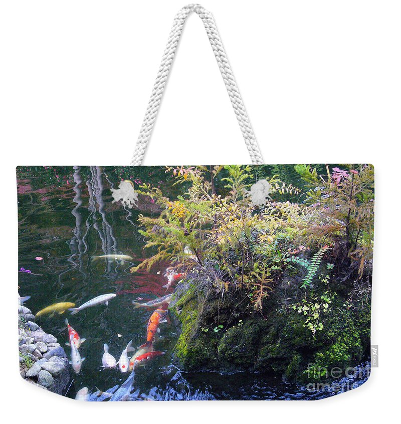 Koi Weekender Tote Bag featuring the photograph Kyoto Landscape by To-Tam Gerwe