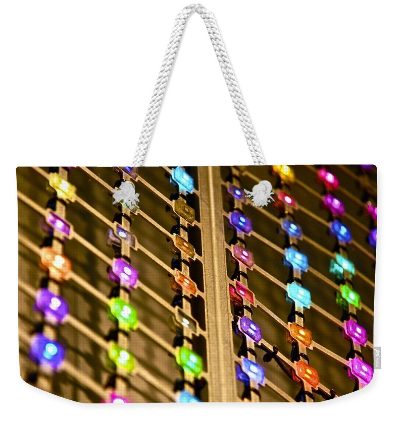 L E D Weekender Tote Bag featuring the photograph L E D Array 3 by Charlie Brock