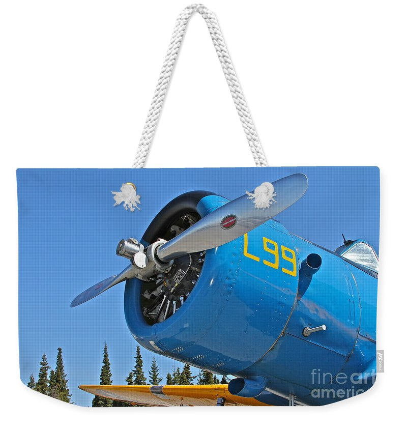 Aircraft Weekender Tote Bag featuring the photograph L99 by Rick Monyahan