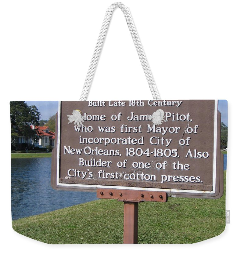 Pitot House Weekender Tote Bag featuring the photograph La-010 Pitot House by Jason O Watson