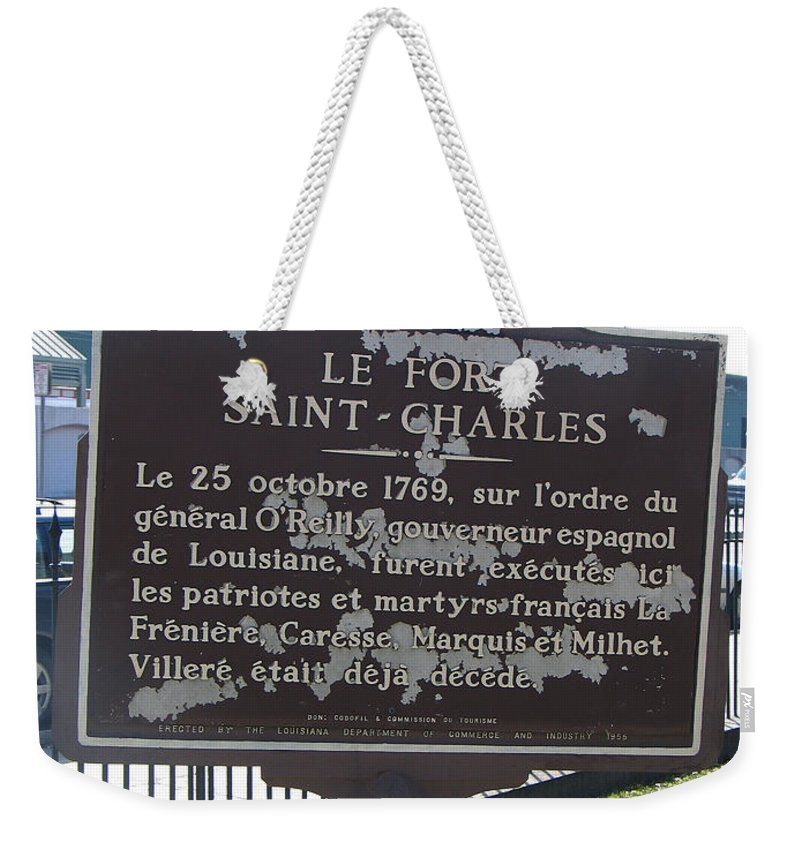 Fort St. Charles Weekender Tote Bag featuring the photograph La-013 Le Fort Saint-charles by Jason O Watson