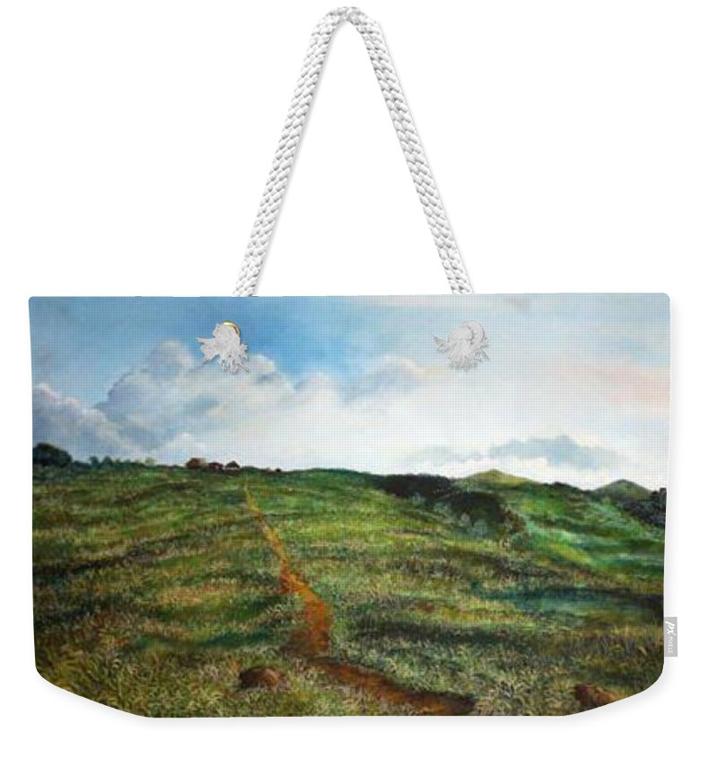 Landscape Weekender Tote Bag featuring the painting La Bonga by Ricardo Sanchez Beitia
