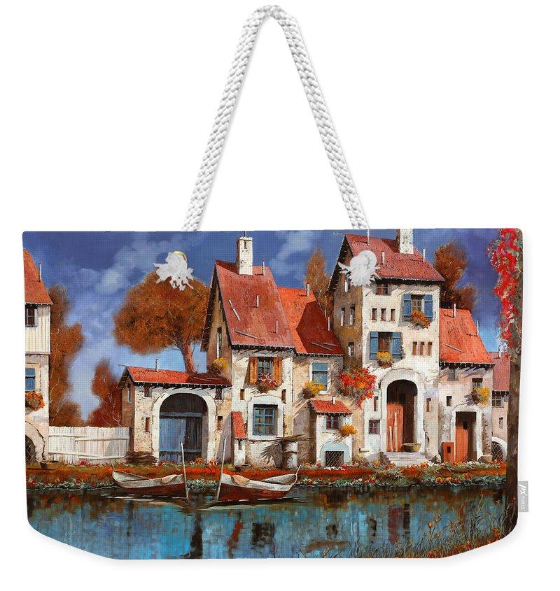 Village Weekender Tote Bags