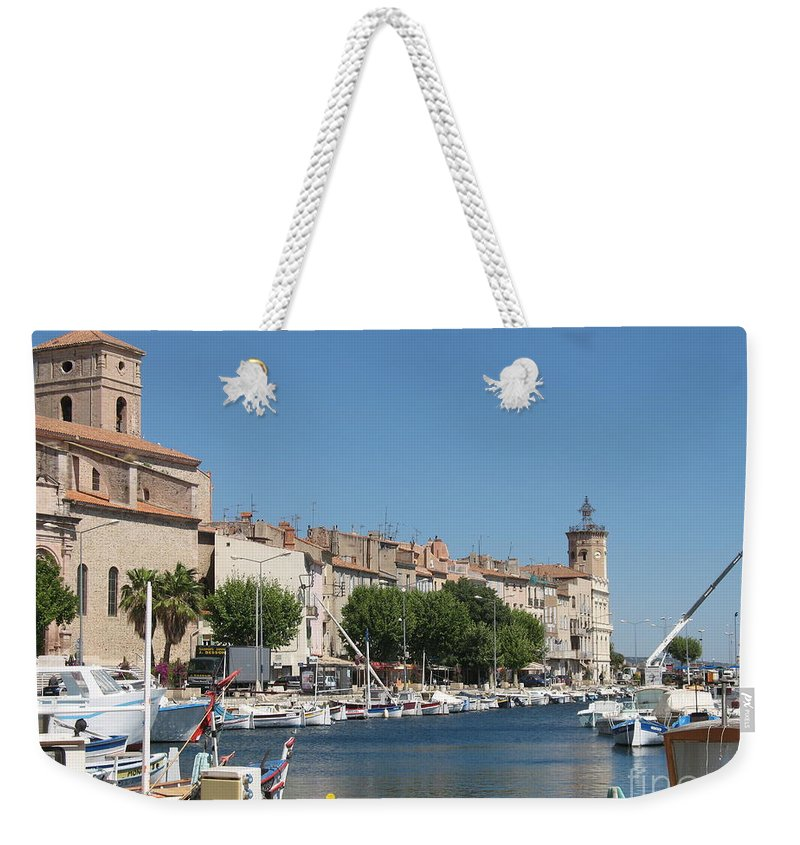 Habor Weekender Tote Bag featuring the photograph La Ciotat Harbor by Christiane Schulze Art And Photography