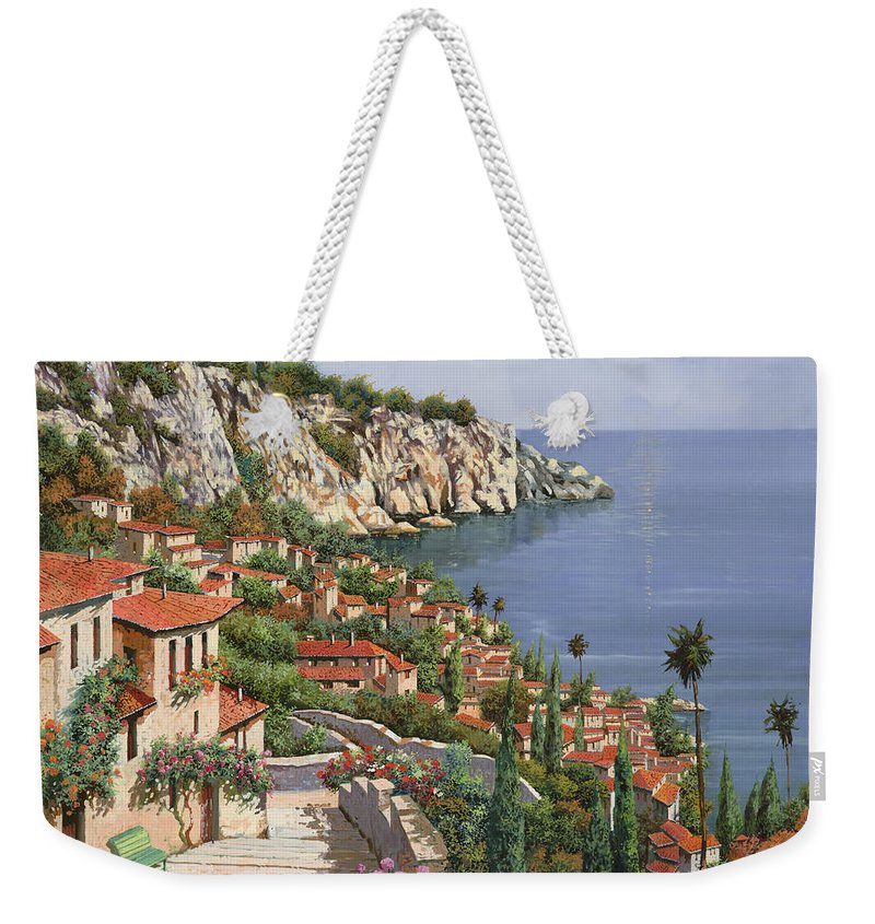 Seascape Weekender Tote Bag featuring the painting La Costa by Guido Borelli