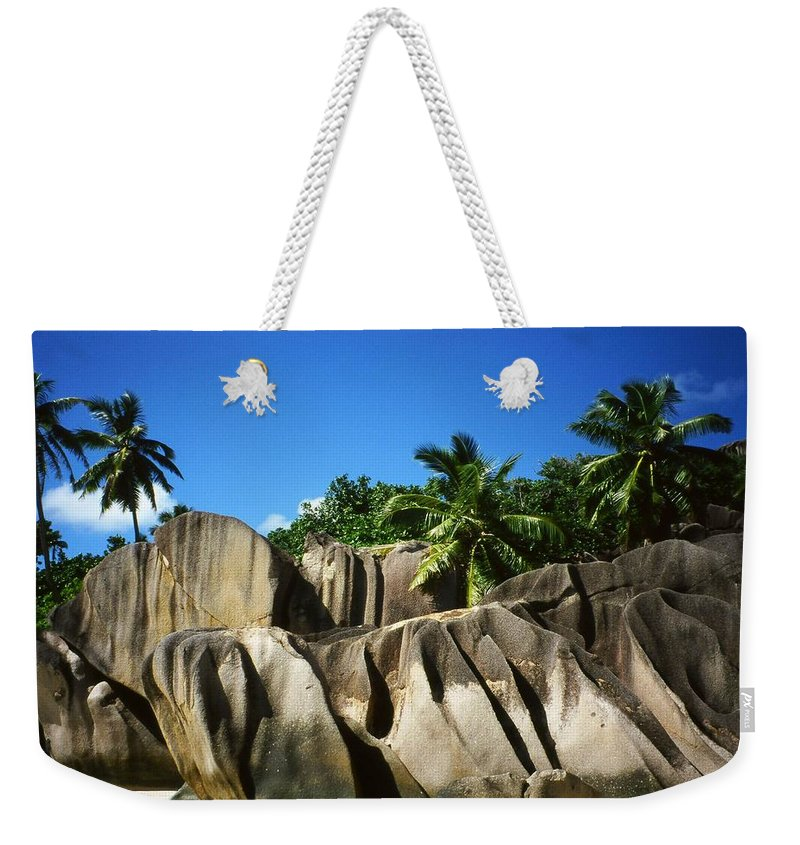 Ocean Weekender Tote Bag featuring the photograph La Digue Island - Seychelles by Juergen Weiss